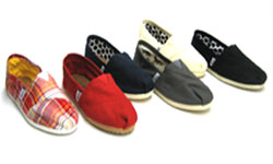 TOMS Shoe Brand List