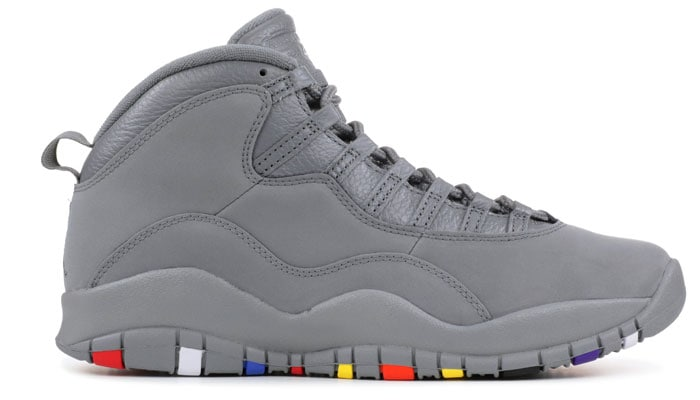 The Air Jordan Retro 10 Cool Grey Version