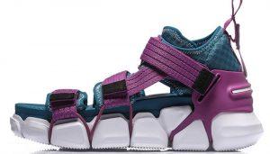Li-Ning Women PFW MIX II PLATFORM Leisure Shoes Breathable Wearable LiNing Light Sport Shoes Sneakers