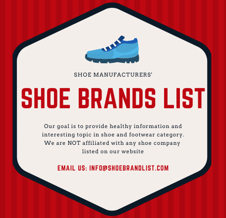 Complete list of all shoe manufacturers