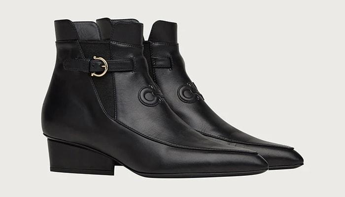 Salvatore Ferragamo Gancini Low Heeled Boot