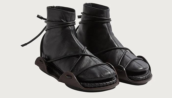 Salvatore Ferragamo Sandal with Leather Sock