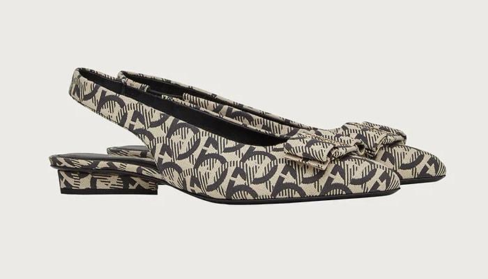 Salvatore Ferragamo Viva Slingback (Gancini woven pattern)